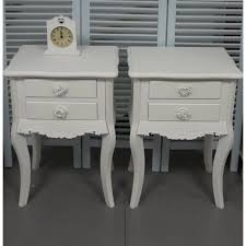 white chic bedroom furniture. Beautiful Chic Pair Of White 2 Drawer Bedside Tables Shabby Chic Bedroom Furniture  Vintage Rose With