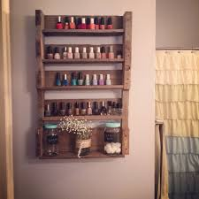 Wooden Pallet Project Nail Polish Shelves My Completed Projects
