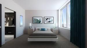 Modern Master Bedroom with Jane Bed, High ceiling, Carpet