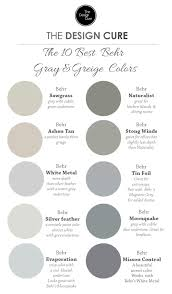 A round up list of our 10 best gray and greige colors by Behr
