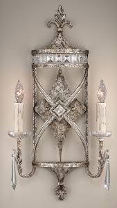 fine art lighting. fine art lamps 323550, winter palace candle crystal wall sconce lighting, 2 light, 120 watts, silver lighting