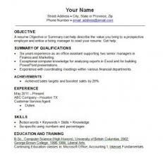 Resume Template Great Resume Templates Free Career Resume Template