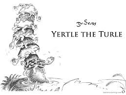 announcing yertle the turtle coloring pages dr seuss page free printable