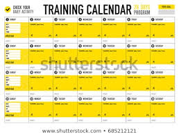 Training Calendar Check Your Activity Big Stock Vector Royalty Free