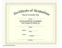 University Graduation Certificate Template Graduation Certificate