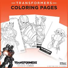 Transformers Coloring Pages Transformers The Last Knight