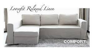 ikea manstad sofa bed custom slipcover