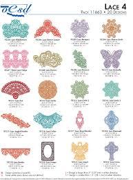 Oesd Machine Embroidery Designs Oesd 11663 Lace 4 Machine Embroidery Designs Cd