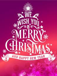 Glossy Merry Christmas Card Birthday Greeting Cards By Davia