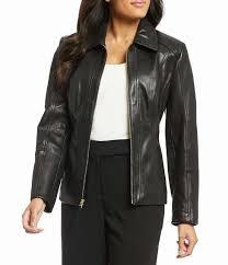 womens preston york leather point collar genuine leather jacket usjacket446on