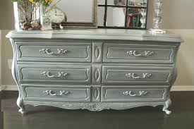 painted furniture ideasFurniture Gorgeous Bedroom Decoration Using 6 Drawer Gray Painted