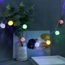 <b>Cotton Ball</b> String Lights 20 <b>LED</b> Cotton Remote Control String ...