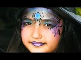witch face painting tutorial pretty witch and spider makeup for
