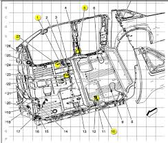 gm yukon denali xl does anyone have a wiring diagram from here is diagram showing all grounds yellow highlighted in the floorpan under carpet