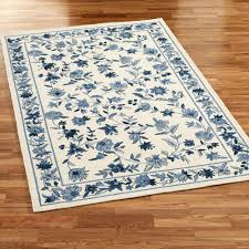 bonnie blue rectangle rug ivory blue