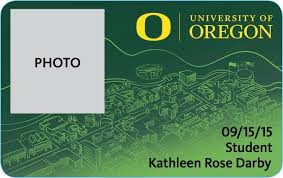 Id Card Winner Student Competition University Kathleen Oregon Design Of Darby —
