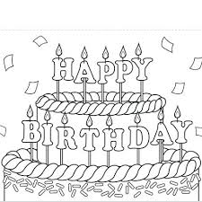Happy Birthday Card Printable Color Whoisthelord Info