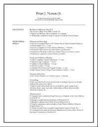 minister resume