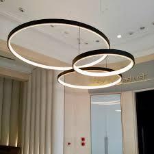 pendant lamp contemporary aluminum acrylic circline 100