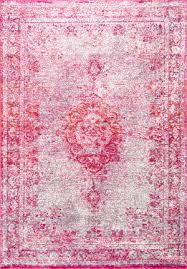 nuloom tanja overdyed medallion pink area rug