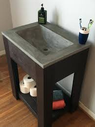 concrete sinks concrete sink vanity concrete bathroom sinks diy