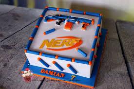 nerf gun birthday cake 1
