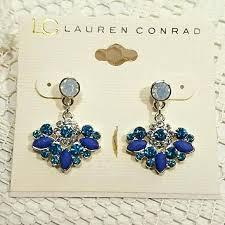 faux crystal chandelier earrings small