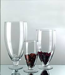 Modern Glass Vases Awesome Triangle Red Modern Glass Pertaining To Wine Martini