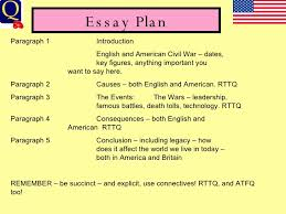 usvseng civil war essay essay plan paragraph 1 introduction english and american civil war