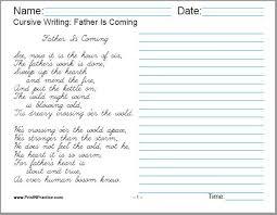 50 Cursive Writing Worksheets Alphabet Sentences Advanced