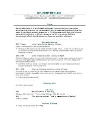 Sample Of A College Resume College Resumes Examples High School