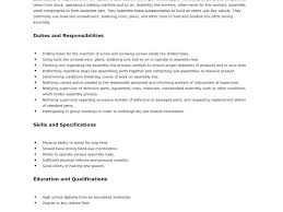Sample Resume For Assembly Line Worker Topshoppingnetwork Com