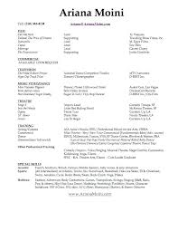 Free Actor Resume Template Free Acting Resume Template Download ...