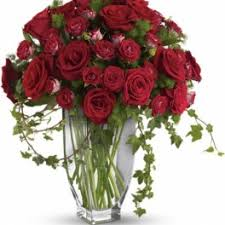 teleflora s rose romanesque bouquet red roses