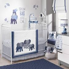 pc indigo elephants crib bedding set