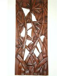 Wood Carved Wall Decor Details About Bali Bamboo Leaves Wall Art Panel Hanging Hard Wood