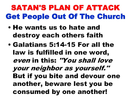 Image result for Satan has plans of destruction for us all