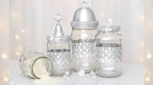 Diy Rhinestone Crystal Glass Jar Ideas Glam Makeover December 18 2018 Youtube