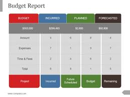 Budget Report Ppt Powerpoint Presentation Summary