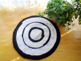 save this item for viewing later view larger image hand woven upcycled round t shirts floor mat rag rug tutorial braided