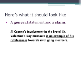 topic sentences using topic sentences effectively to provide  here s what it should look like a general statement and a claim al capone s involvement