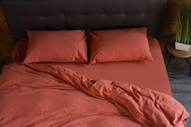 burnt orange bedding set 3 pcs 1 duvet