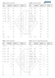Goalie Pants Sizing Chart Size Charts Buy From Web Store Tackla Products Tackla