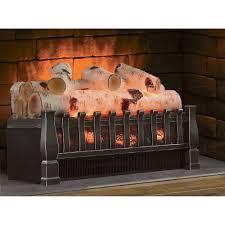 duraflame birch electric log insert heater 4600 btu for awesome rh attane org