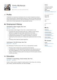 Sample Resume For Hairstylist Resume Format Sample For Job Application