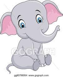 Baby Elephant Drawings Baby Elephant Drawing Baby Elephant Etsy