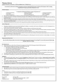 Marketing Resume Format Executive Sample Mid Lev Sevte