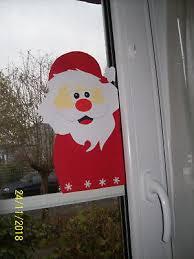 Fensterbild Tonkarton Weihnachtsmann Nikolaus Weihnachten