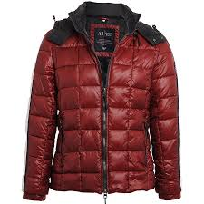 Quilted Bomber Jacket In Red &  Adamdwight.com