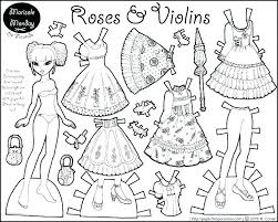 Barbie Paper Doll Coloring Pages Barbie Paper Dolls Printable Doll